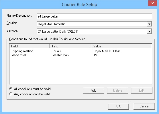 Courier Rule Setup 2
