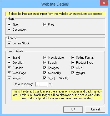 Import Ebay listing details