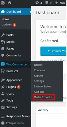 Woo Commerce Export plugin